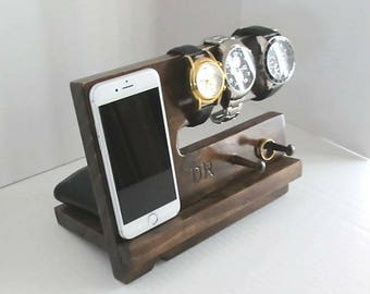 Wood Phone Dock, Phone Stand, Wooden Phone Dock,  Wooden Phone Stand