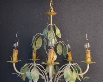 Beautiful French toleware chandelier