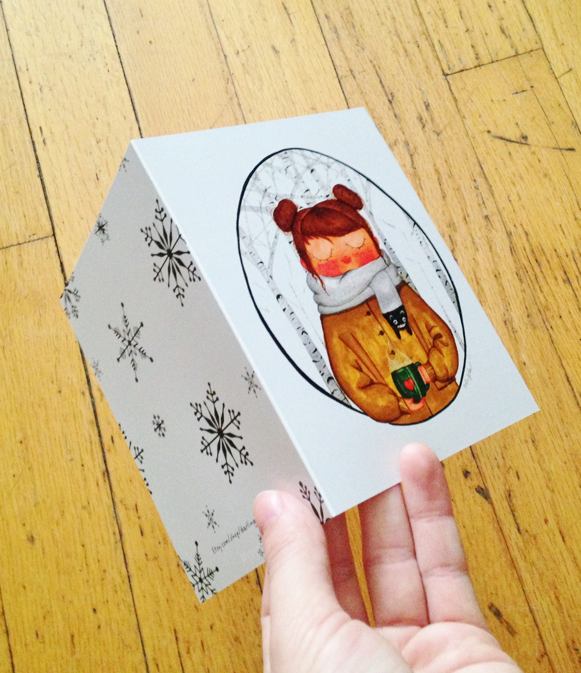 Blank greeting cards pack original hand drawn winter holiday blank greeting cards pack original hand drawn winter holiday season coffee portrait kristyandbryce Image collections