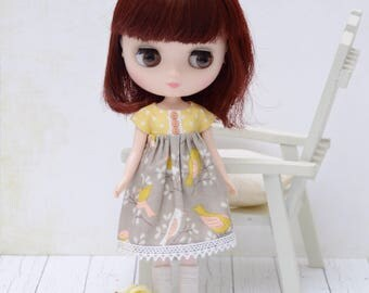 Pretty birdy summer dress for Middie Blythe