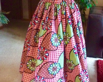 Girls African print skirt  Ankara, African clothing. Great for birthday parties, weddings, graduation, Church,