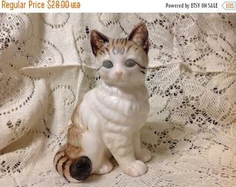 Winter Sale Vintage  Cat Vintage Cat Statue Japan