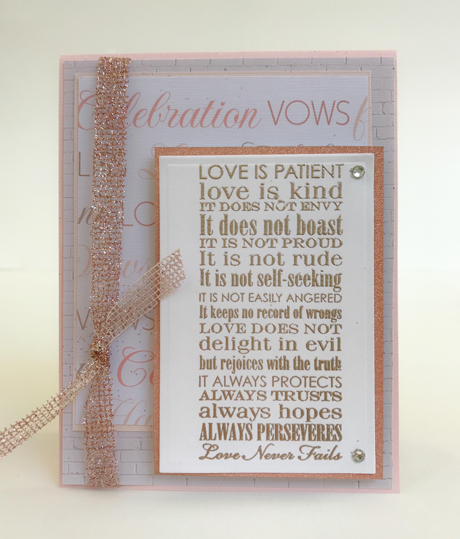Handmade Wedding Cards - Details handmade wedding card