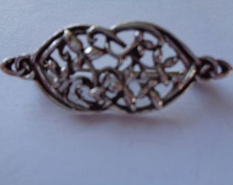 Vintage Signed KH 93 Kit Heath Sterling Silver 925 Art Nouveau Brooch/Pin   Small