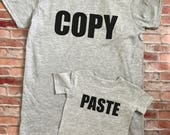 Copy and paste shirts, Fathers Day Shirt, Father and Son, family shirt set, dad and kid shirt set, mom and kid shirt set