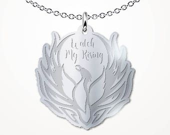 Phoenix from the Ashes Necklace - Watch My Rising - Motivational Inspirational Gift Jewelry