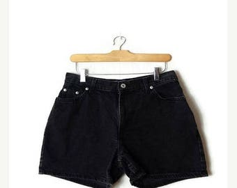 ON SALE Vintage Black Denim Shorts from 90's*