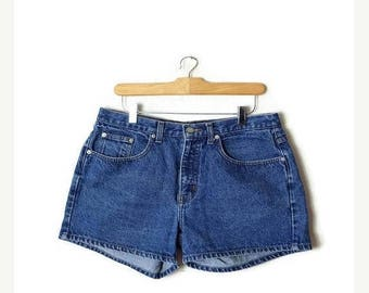 ON SALE Vintage Blue Denim Shorts from 90's/W31*