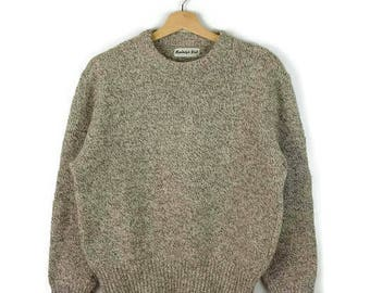 Vintage Oatmeal/White Marled Wool Sweater from 1980's*