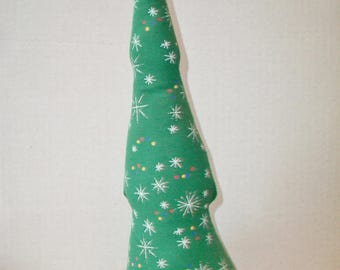Vintage Cloth Christmas Tree Overly-Raker Inc Green Fabric Holiday Home Decor