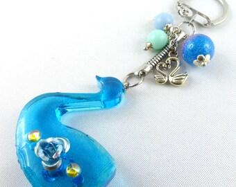 Bag jewelery, bag pendant, pocket knives, key chain, resin, bag charm