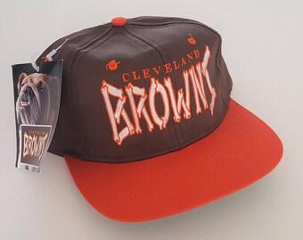 Vintage Cleveland Browns Deadstock Snapback Hat NFL VTG