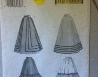 """Butterick Historical Skirt Pattern 3419  Size: 6-10, Bust  30""""-32"""", Waist 23""""-25"""", Hip 32""""-34"""""""
