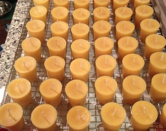 18 Votive Beeswax Candles