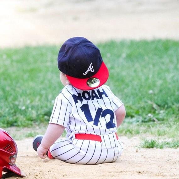 Boys Smash Cake Outfit Baby Baseball Uniform Boys Customized