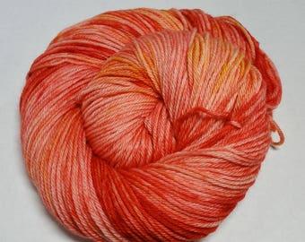 Bonfire Hand Dyed Superwash Merino Worsted Yarn