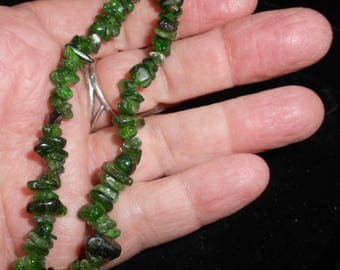CHROME DIOPSIDE BRACELET from Russia*7 to 8 Inches*The Crying Stone heals Emotional Trauma