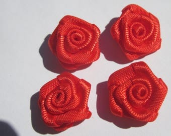 4 fabric bow in flower shape 14-15 mm approximately (A107)