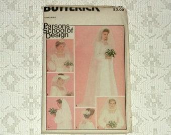 DOG DAYS Vintage 80s Parsons School of Design Wedding Veil Pattern