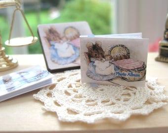 dollhouse baby photo album beatrix potter hunca munca 12th scale miniature