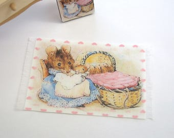 dollhouse beatrix potter rug 12th scale miniature hunca munca