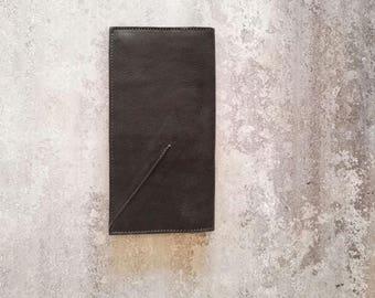 Black Leather Wallet Women, Leather Purse Wallet, Checkbook Leather Wallet Medium, Wallets for Women, Handmade Leather Purse