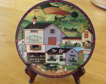 "Bradford Exchange Charles Wysocki's Peppercricket Grove ""Virginia's Market"" plate #217A"