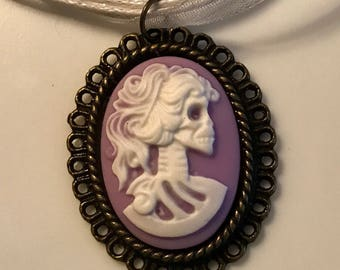 Unique One of a Kind Skull Skeleton Cameo