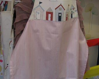 Nautical/Beach style handmade adult apron