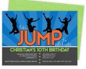 Trampoline Invitation, Trampoline Party Invitation, Trampoline Birthday Invitations, Trampoline Party, Trampoline Invite Jump Invitation 271
