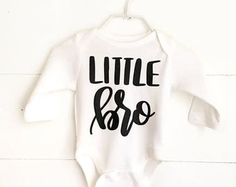 Little Brother Outfit, Baby Boy Take Home Outfit, Sibling Photo Shoot Outfit, Little Bro Bodysuit, Boy Baby Shower Git, Baby Boy Clothes