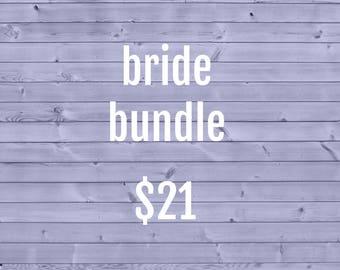 Bride Cozy Bundle ~ Crochet Coffee Cozy ~ Coffee Cozie