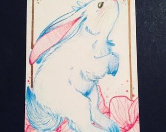 Rabbit Jackalope Card