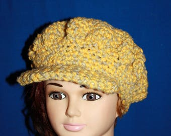 CAP in grey and yellow fancy cotton for spring summer 2