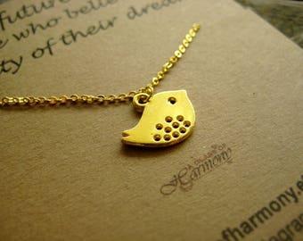 GRADUATION GIFT - Graduation Necklace, Graduation Jewelry, Gift for grad,Bird Necklace , Graduation gift for her, Inspiration Gift