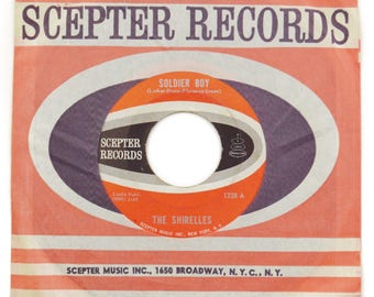 Vintage 60s The Shirelles Soldier Boy Pop Girl Group 45 RPM Single Record Vinyl