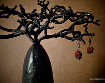 Earrings India Rudraksha seeds