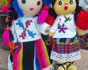 Mexican Folk Art Handmade Dolls