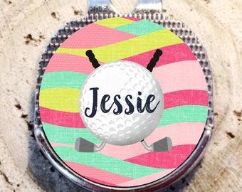 Golf Ball Marker, Golf Marker, Golf Divot Tool, Divot Tool, Ball Marker, Personalized Golf Ball Marker, Mothers Day Gift, Flower Ball Marker