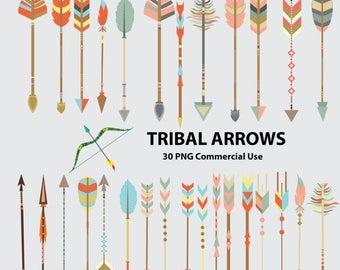 50% SALE Tribal arrows clipart, tribal clipart, arrows clipart, arrows clip art, tribal clip art, arrows, arrow, bow and arrow, coral arrows