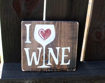 i love wine sign