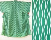 Green white wave stripe k...