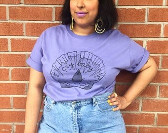 Cry baby t-shirt - lovestruck Prints - soft shell - sea shell tear