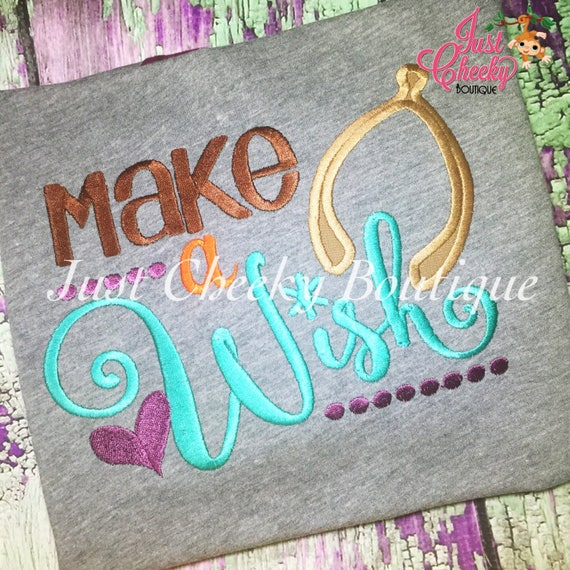 Make A Wish Embroidered Thanksgiving Shirt - Girls Thanksgiving Shirt - Fall Shirt - Turkey Day Shirt - Kids Thanksgiving Shirt