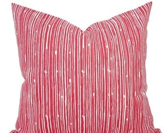 15% OFF SALE Coral Throw Pillows - Pillows - Coral Stripe Decorative Throw Pillows - Couch Pillows - Accent Pillow - Coral Pillows