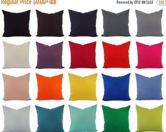 15% OFF SALE Cotton Linen Blend Pillow Cover - Solid Pillow Cover - Linen Pillow Sham - Lumbar Pillow - 16 x 16 Pillow Cover - 18 x 18 Pillo