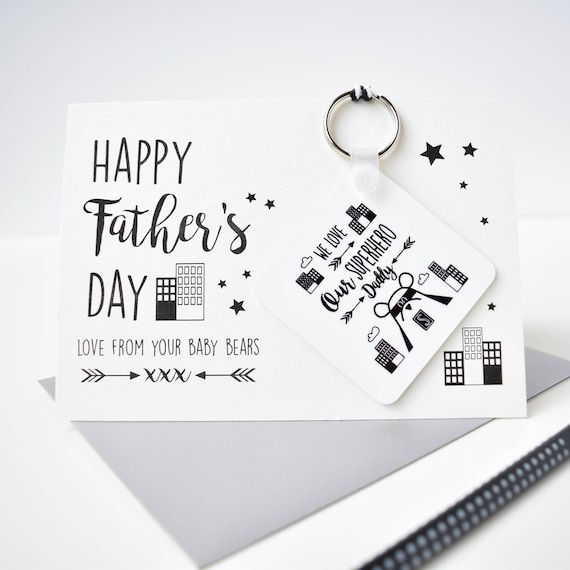Father's day card - Father's day gift - Superhero Daddy Bear - Big Adventures with Daddy bear