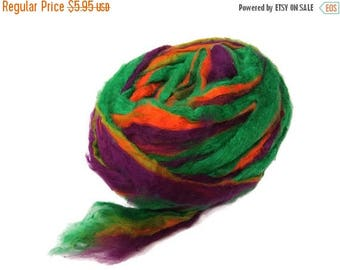 SALE Pulled Mulberry butter Silk Roving