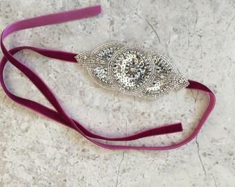 Rhinestone 20s Flapper Rhinestone Headband Head Dress Bridal Hair Wedding