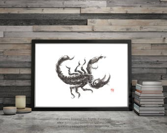Zodiac Symbol Scorpio, Scorpion, Astrology Zodiac Poster, for Men Tattoo, Star Sign, Powerful, Magic Artwork